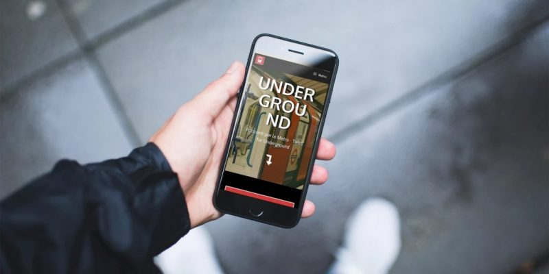 tales for underground - mobile web app for reading